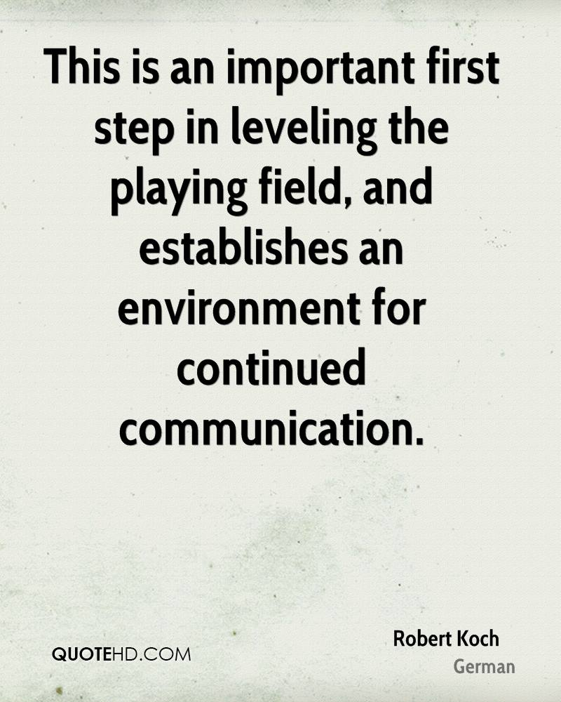 This is an important first step in leveling the playing field, and establishes an environment for continued communication.