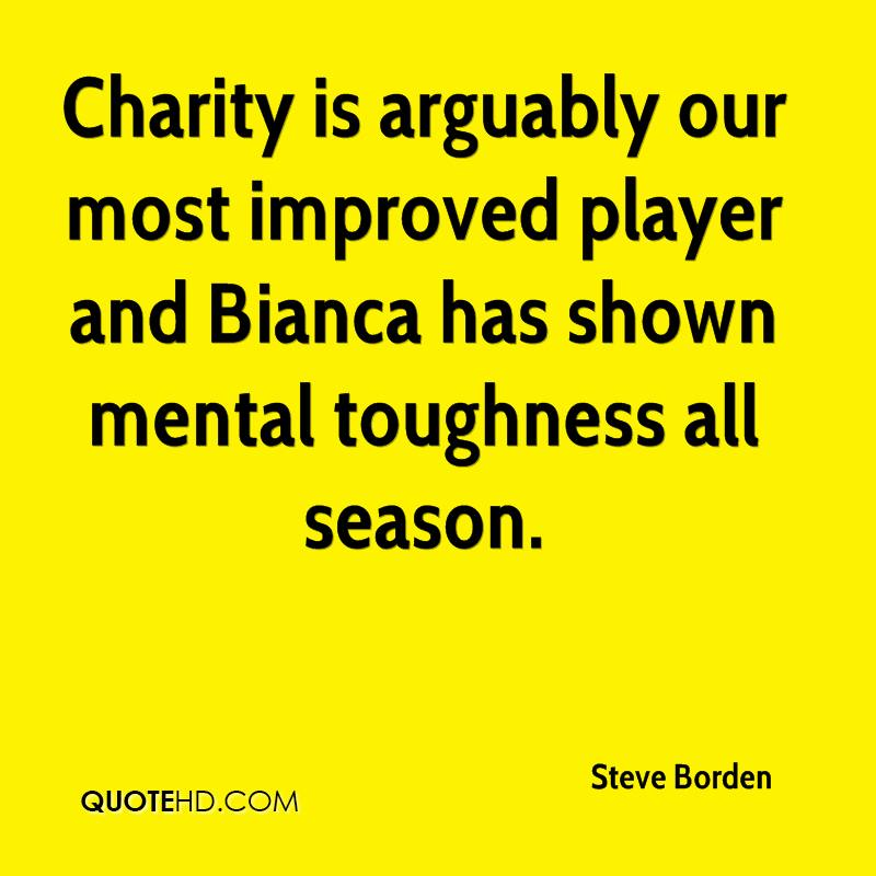 Charity is arguably our most improved player and Bianca has shown mental toughness all season.