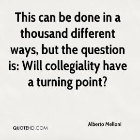Alberto Melloni - This can be done in a thousand different ways, but the question is: Will collegiality have a turning point?
