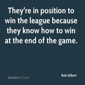 They're in position to win the league because they know how to win at the end of the game.