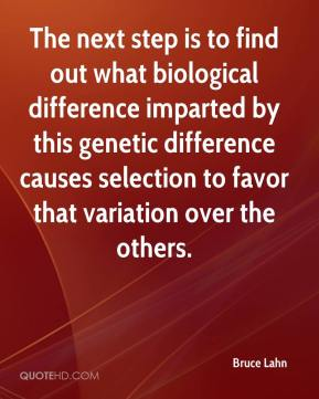 The next step is to find out what biological difference imparted by this genetic difference causes selection to favor that variation over the others.