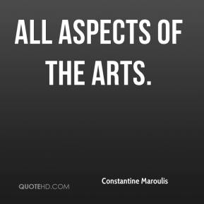 Constantine Maroulis - all aspects of the arts.