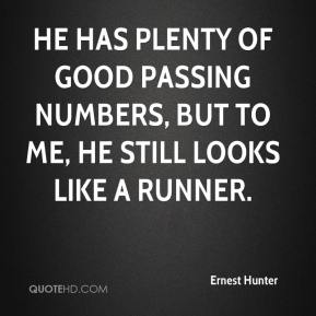 He has plenty of good passing numbers, but to me, he still looks like a runner.
