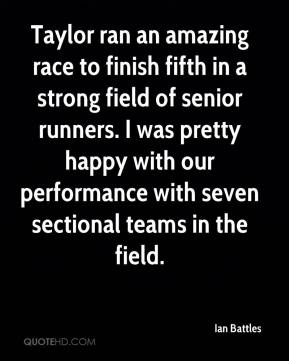 Taylor ran an amazing race to finish fifth in a strong field of senior runners. I was pretty happy with our performance with seven sectional teams in the field.