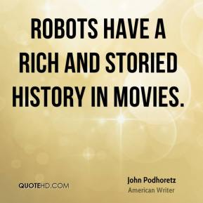 Robots have a rich and storied history in movies.