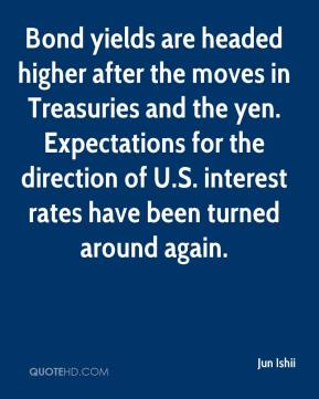 Jun Ishii  - Bond yields are headed higher after the moves in Treasuries and the yen. Expectations for the direction of U.S. interest rates have been turned around again.