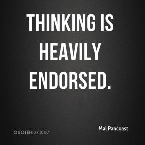 Thinking is heavily endorsed.