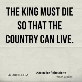 The king must die so that the country can live.