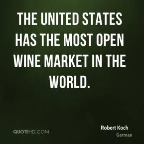 The United States has the most open wine market in the world.