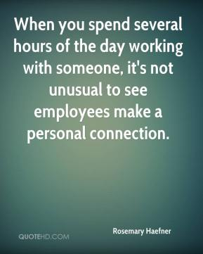 When you spend several hours of the day working with someone, it's not unusual to see employees make a personal connection.