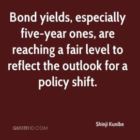 Bond yields, especially five-year ones, are reaching a fair level to reflect the outlook for a policy shift.