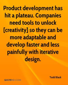 Todd Black  - Product development has hit a plateau. Companies need tools to unlock [creativity] so they can be more adaptable and develop faster and less painfully with iterative design.