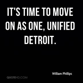 It's time to move on as one, unified Detroit.