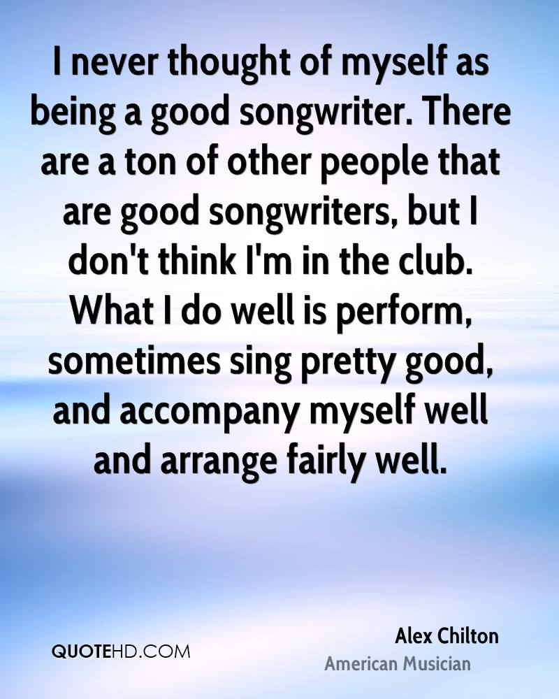 How to Be a Good Songwriter
