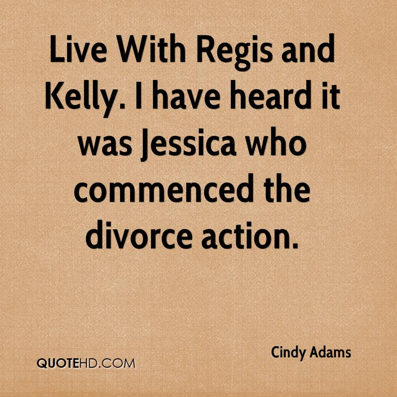 Live With Regis and Kelly. I have heard it was Jessica who commenced the divorce action.