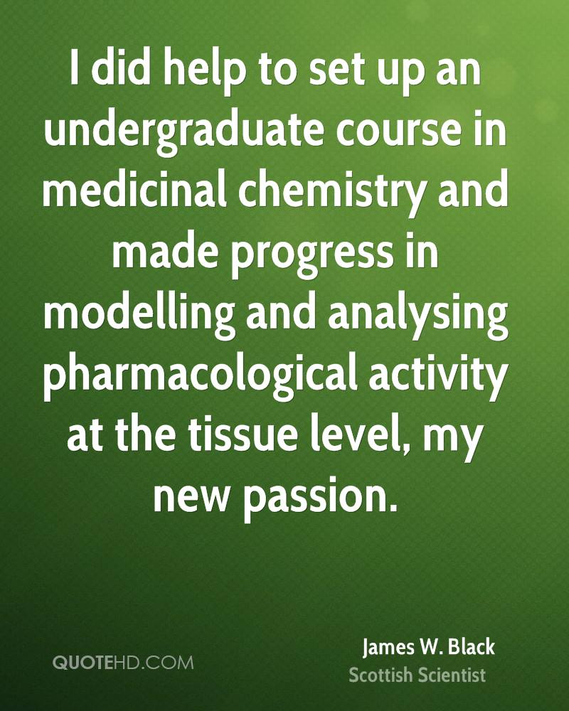 I did help to set up an undergraduate course in medicinal chemistry and made progress in modelling and analysing pharmacological activity at the tissue level, my new passion.
