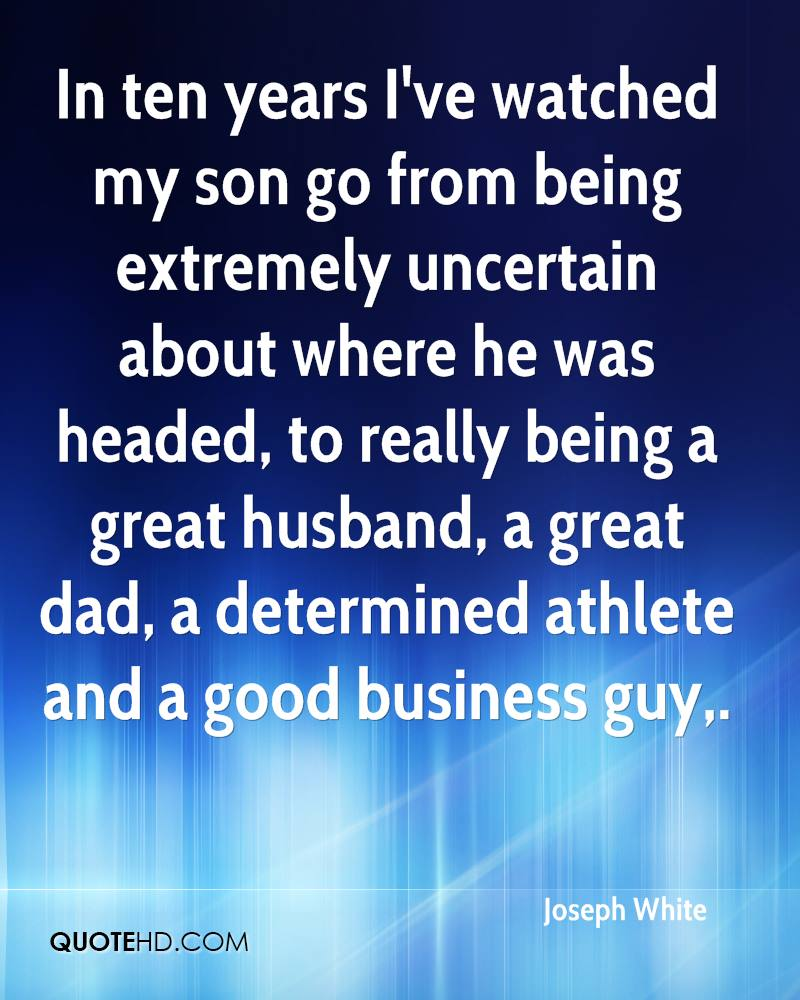 being a good son