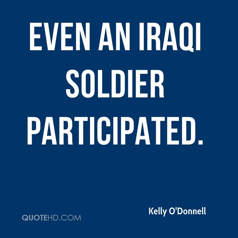 Even an Iraqi soldier participated.