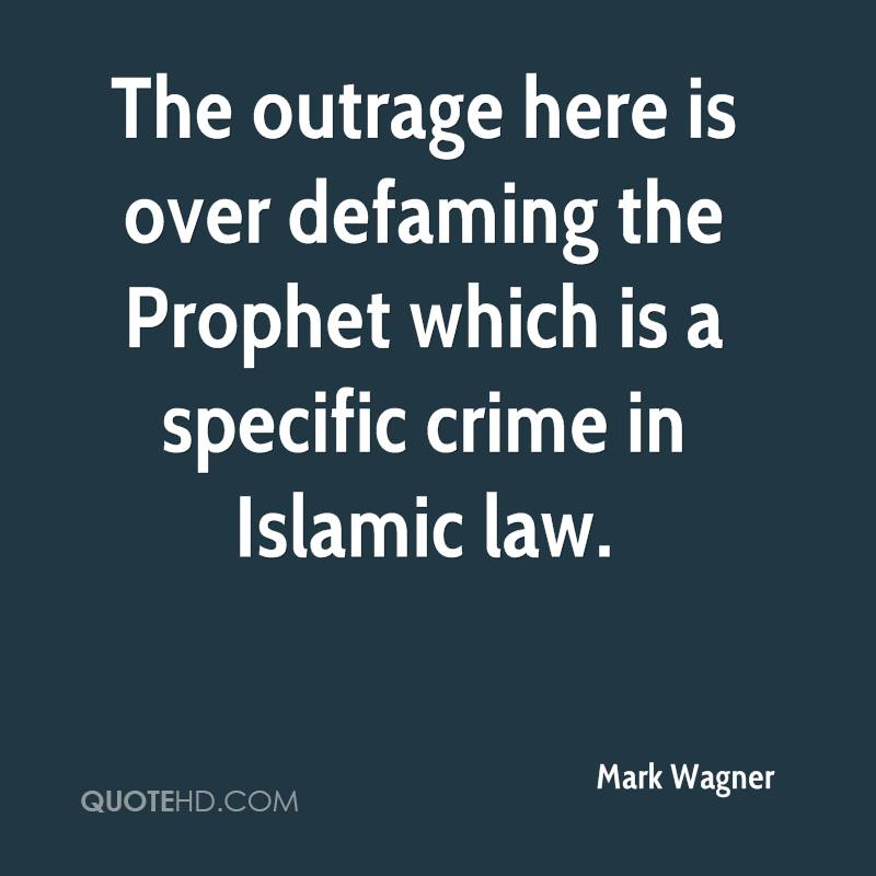 The outrage here is over defaming the Prophet which is a specific crime in Islamic law.
