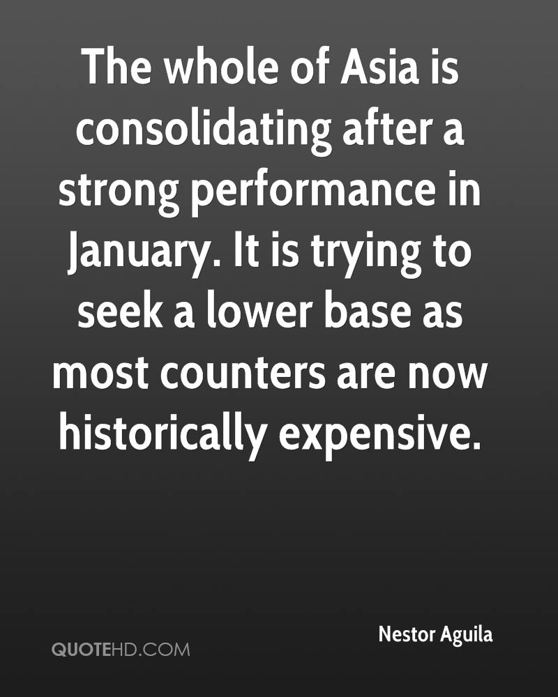 The whole of Asia is consolidating after a strong performance in January. It is trying to seek a lower base as most counters are now historically expensive.