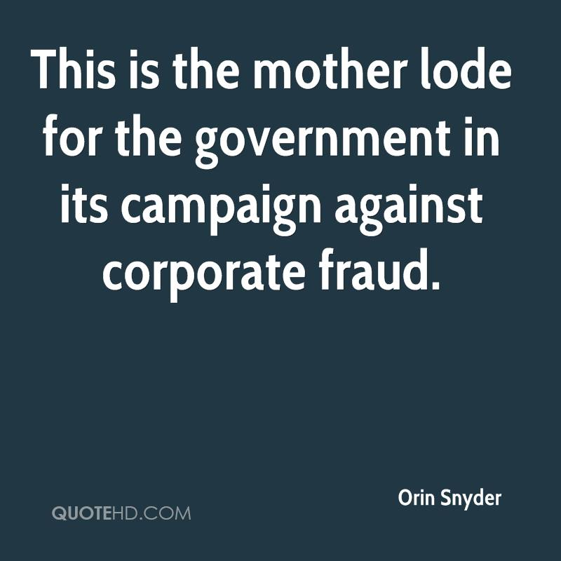 This is the mother lode for the government in its campaign against corporate fraud.