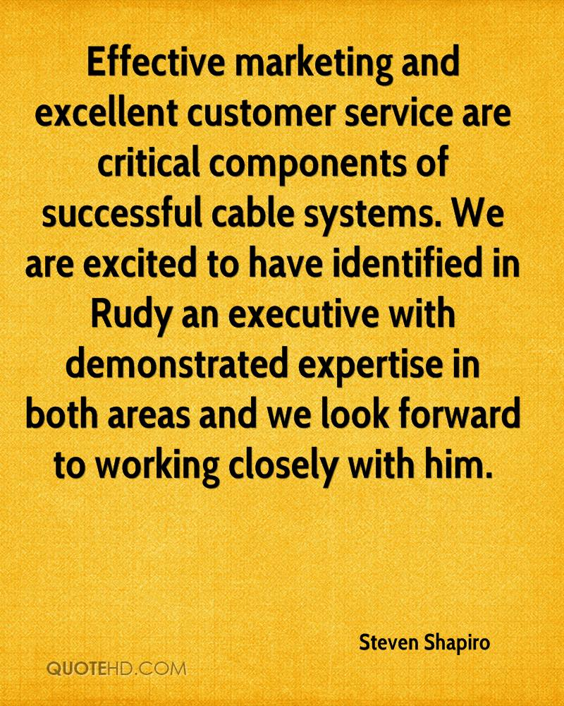 Effective marketing and excellent customer service are critical components of successful cable systems. We are excited to have identified in Rudy an executive with demonstrated expertise in both areas and we look forward to working closely with him.
