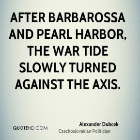 After Barbarossa and Pearl Harbor, the war tide slowly turned against the Axis.
