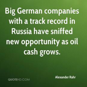 Big German companies with a track record in Russia have sniffed new opportunity as oil cash grows.