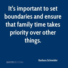 It's important to set boundaries and ensure that family time takes priority over other things.