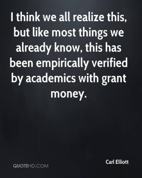 Carl Elliott - I think we all realize this, but like most things we already know, this has been empirically verified by academics with grant money.
