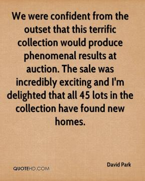 We were confident from the outset that this terrific collection would produce phenomenal results at auction. The sale was incredibly exciting and I'm delighted that all 45 lots in the collection have found new homes.