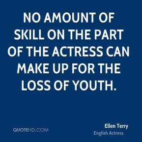 No amount of skill on the part of the actress can make up for the loss of youth.
