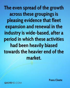 The even spread of the growth across these groupings is pleasing evidence that fleet expansion and renewal in the industry is wide-based, after a period in which these activities had been heavily biased towards the heavier end of the market.