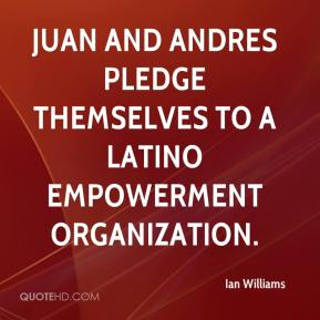 Ian Williams - Juan and Andres pledge themselves to a Latino empowerment organization.