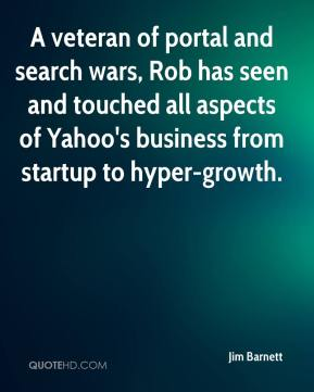 A veteran of portal and search wars, Rob has seen and touched all aspects of Yahoo's business from startup to hyper-growth.