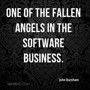 John Burnham  - one of the fallen angels in the software business.
