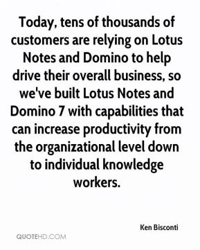 Ken Bisconti  - Today, tens of thousands of customers are relying on Lotus Notes and Domino to help drive their overall business, so we've built Lotus Notes and Domino 7 with capabilities that can increase productivity from the organizational level down to individual knowledge workers.