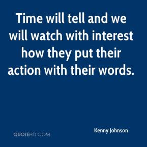 Time will tell and we will watch with interest how they put their action with their words.