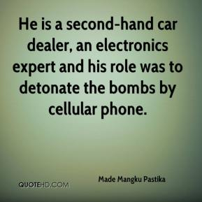Made Mangku Pastika  - He is a second-hand car dealer, an electronics expert and his role was to detonate the bombs by cellular phone.