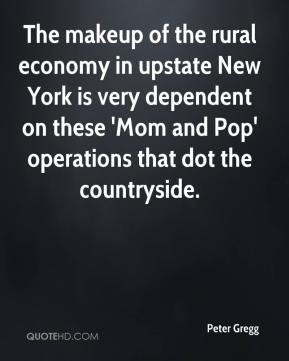 The makeup of the rural economy in upstate New York is very dependent on these 'Mom and Pop' operations that dot the countryside.