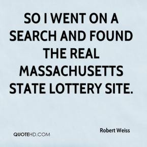 So I went on a search and found the real Massachusetts State Lottery site.