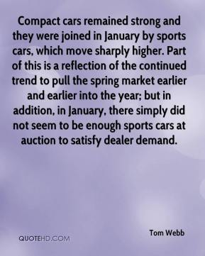Compact cars remained strong and they were joined in January by sports cars, which move sharply higher. Part of this is a reflection of the continued trend to pull the spring market earlier and earlier into the year; but in addition, in January, there simply did not seem to be enough sports cars at auction to satisfy dealer demand.