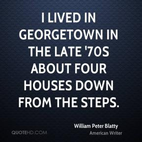 I lived in Georgetown in the late '70s about four houses down from the steps.