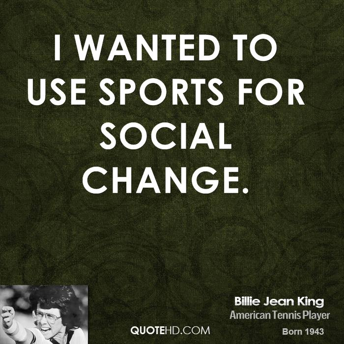 I wanted to use sports for social change.