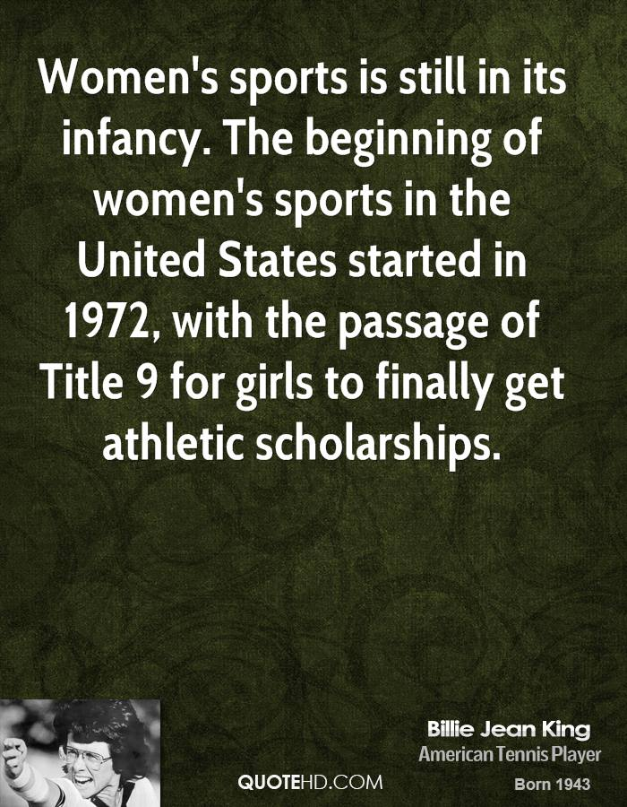an analysis of the title nine and the womens athletic scholarships Salary and staffing analysis athletic financial aid assessment facility benchmarking title ix assessment  men's and women's track & field.