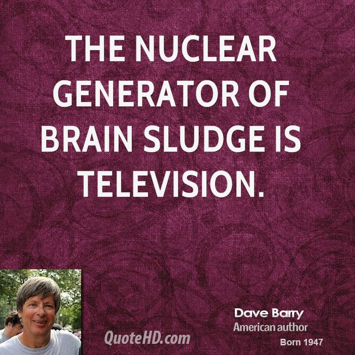 The nuclear generator of brain sludge is television.