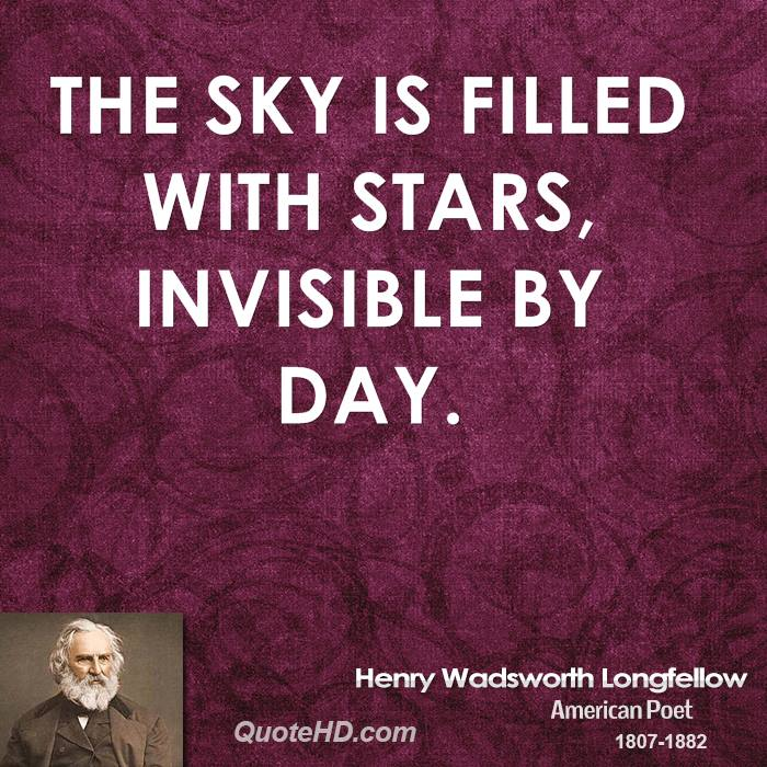 The sky is filled with stars, invisible by day.