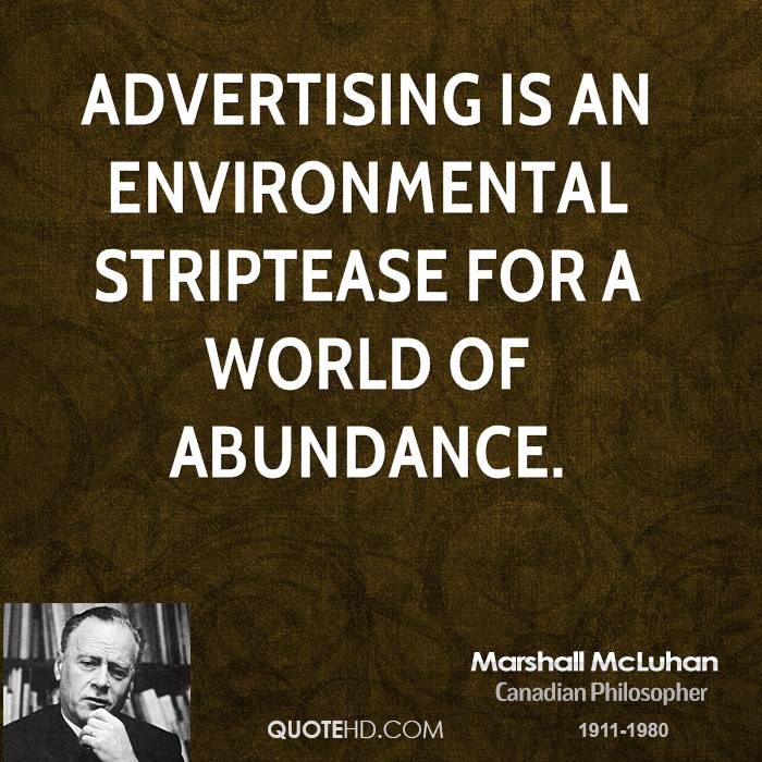 The Medium is the Message by Marshall McLuhan