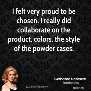 I felt very proud to be chosen. I really did collaborate on the product, colors, the style of the powder cases.