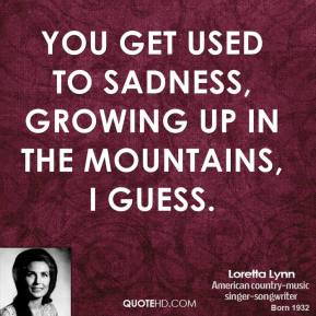 Loretta Lynn - You get used to sadness, growing up in the mountains, I guess.